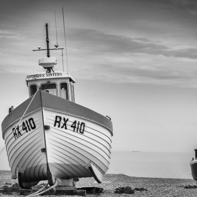 """Desolate Dungerness Beach"" stock image"
