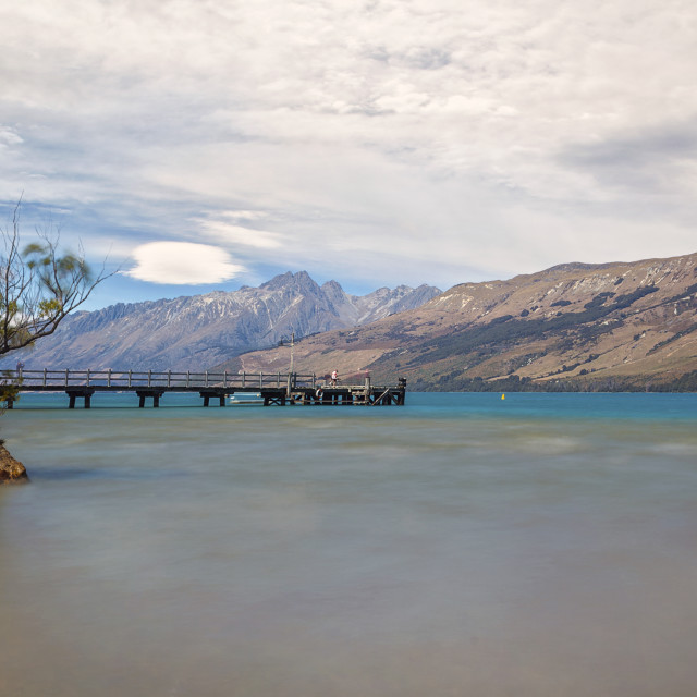 """Glenorchy lake side, Queenstown, New Zealand"" stock image"