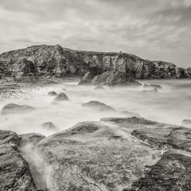 """""""Trow rocks from Graham Sands"""" stock image"""