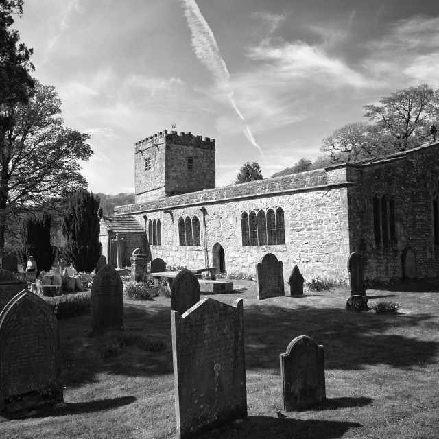 """Hubberholme Church"" stock image"
