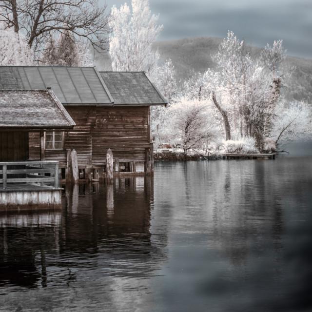 """Fishing Hut 1"" stock image"