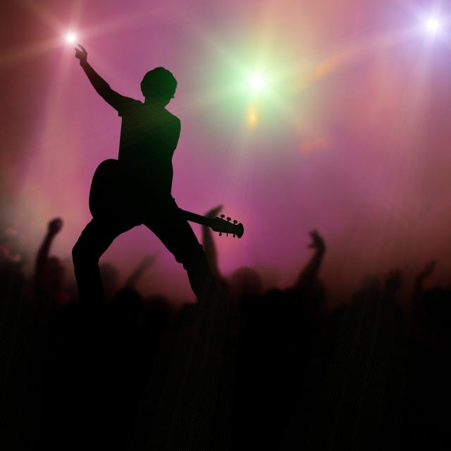 """guitarist at rock concert"" stock image"