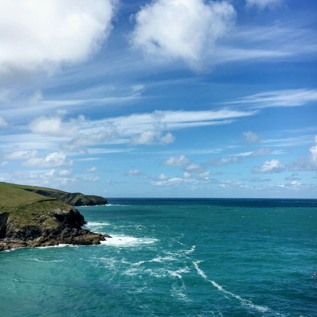 """Port Isaac Coast"" stock image"
