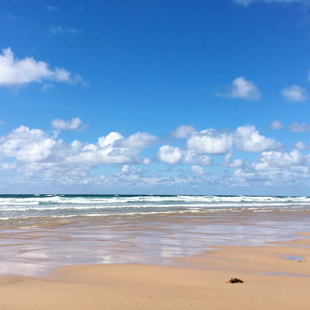 """Watergate Bay"" stock image"