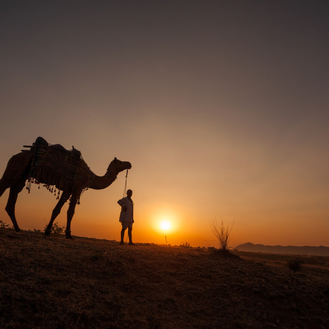 """Lost in Pushkar"" stock image"