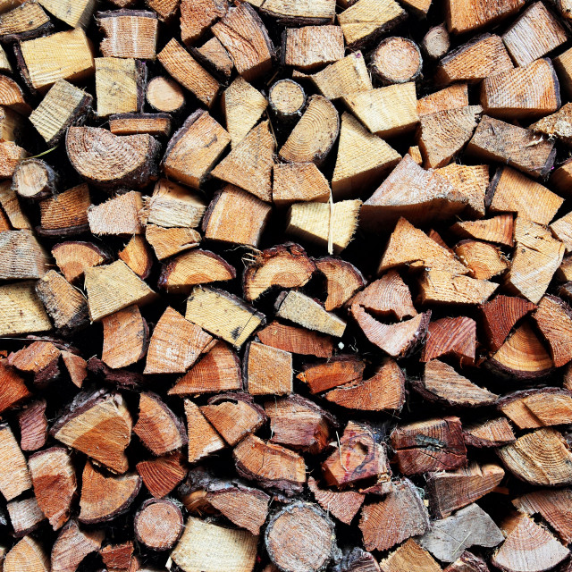 """""""Stack of firewood"""" stock image"""
