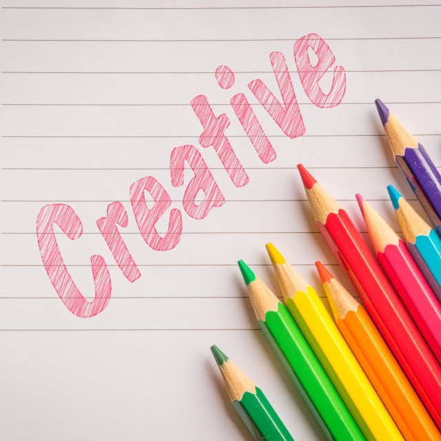 """""""Creative colors on linear paper"""" stock image"""
