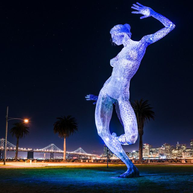 """Bliss Dance, Treasure Island, San Francisco"" stock image"