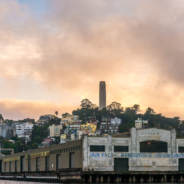 """Coit Tower, San Francisco"" stock image"