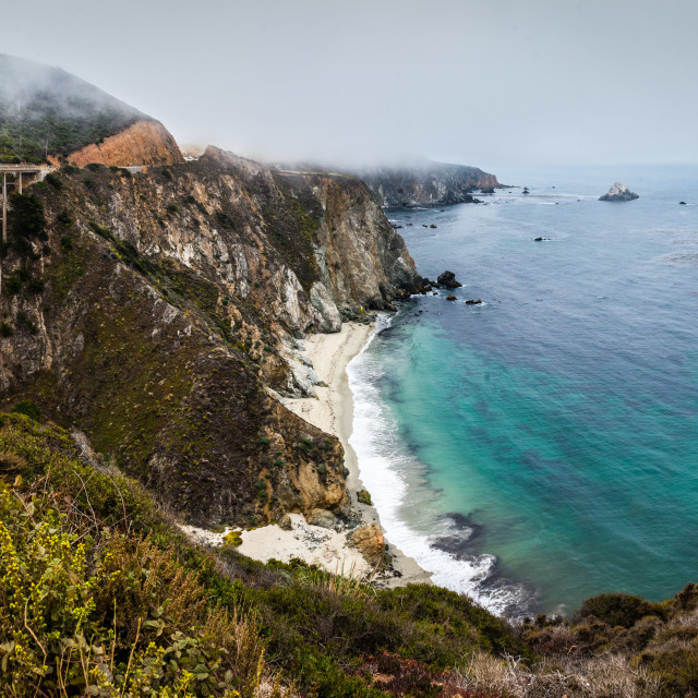 """Bixby Creek Bridge, Big Sur, Route 1, California"" stock image"