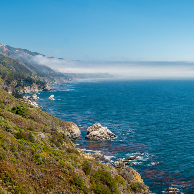 """Big Sur Coastline"" stock image"
