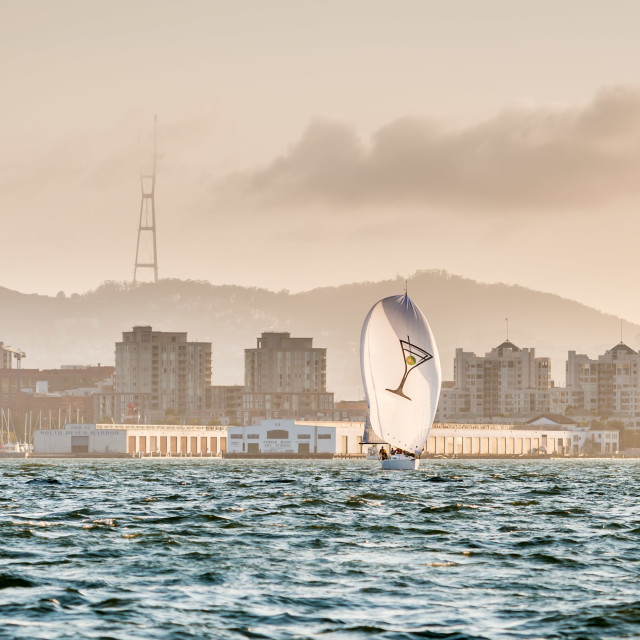 """Yacht Racing on San Francisco Bay"" stock image"