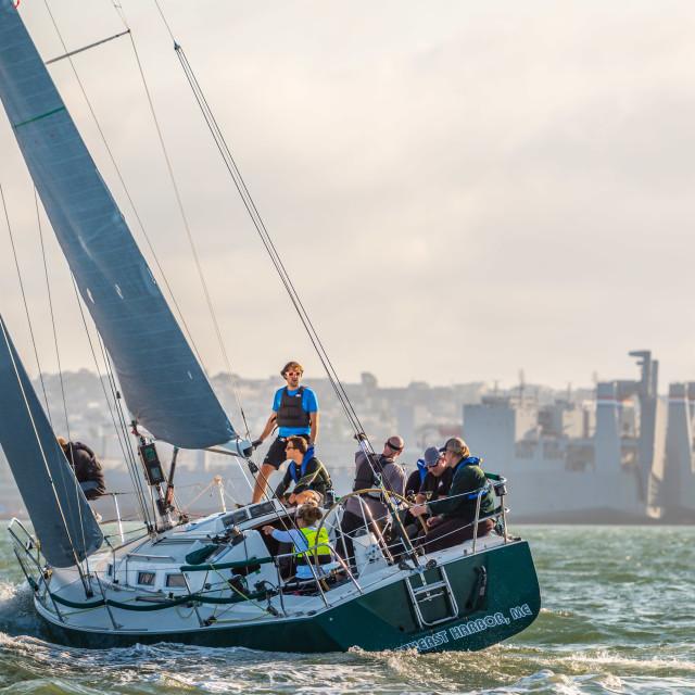 """Yacht Racing on San Francisco Bay"" stock image"
