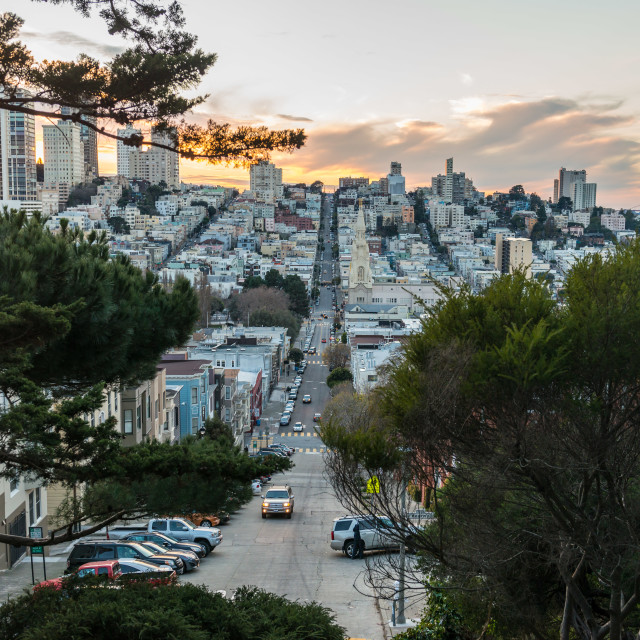 """Russian Hill and North Beach, San Francisco"" stock image"