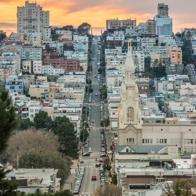 """Russian Hill evening, San Francisco"" stock image"
