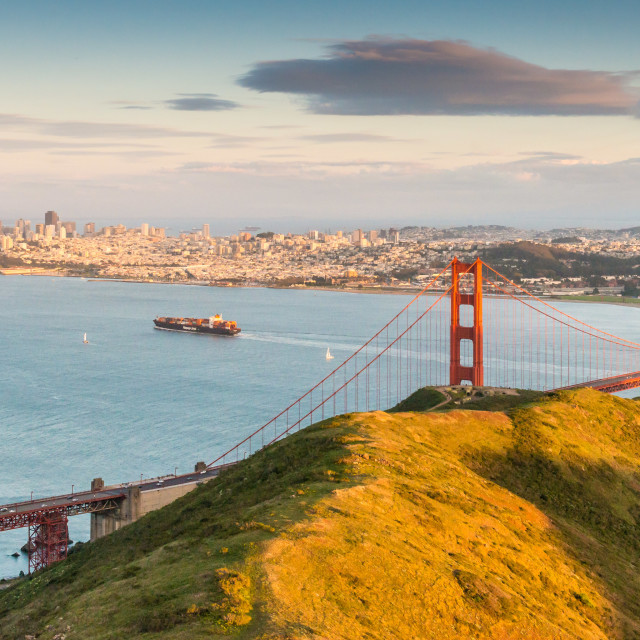 """Golden Gate Bridge, San Francisco Bay"" stock image"