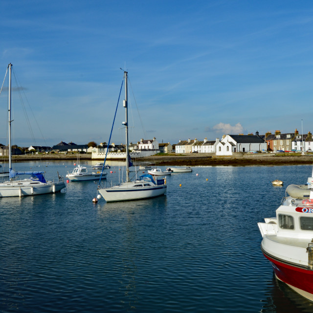 """""""Isle of Whithorn Harbour"""" stock image"""