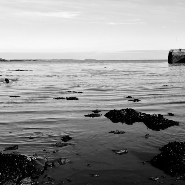"""Garlieston Harbour"" stock image"