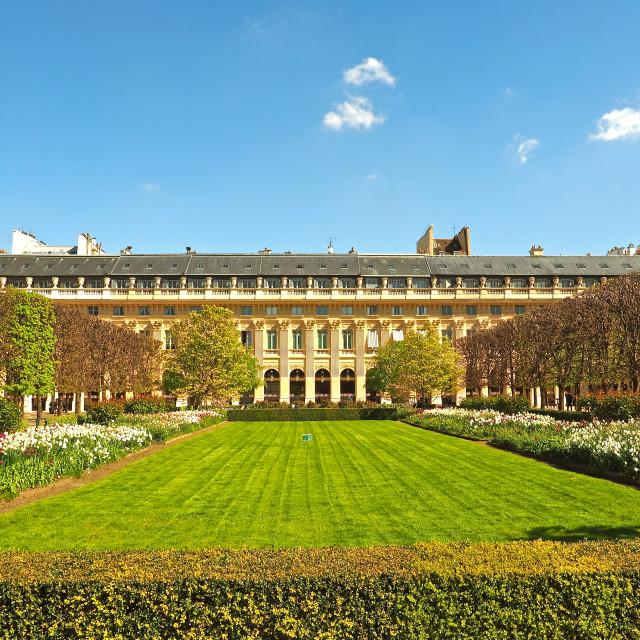 """Palais-Royal Gardens in Paris"" stock image"