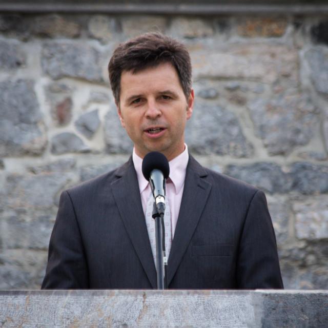 """""""Dejan Crnek, Deputy Mayor of Ljubljana"""" stock image"""