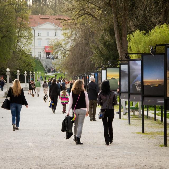 """""""National Geographic Exhibit in Ljubljana, Slovenia"""" stock image"""