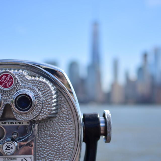 """NYC Through Binoculars"" stock image"