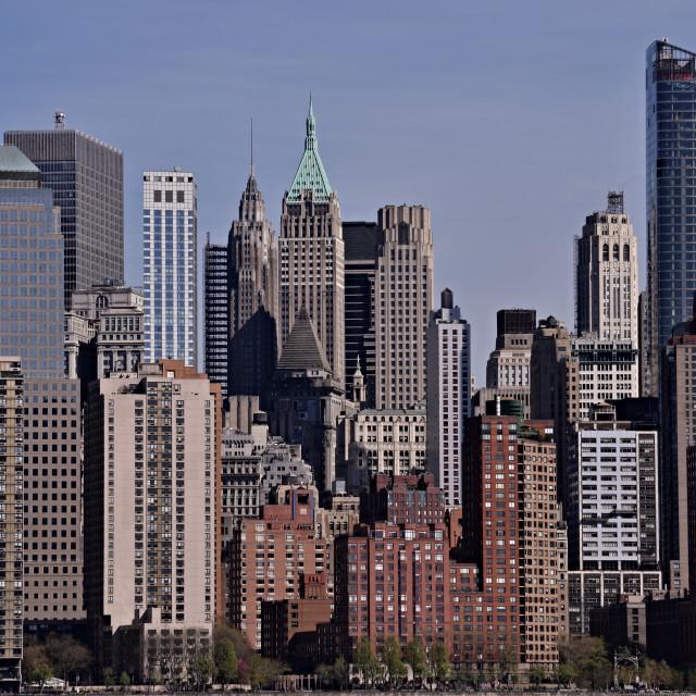 """Skyscrapers of New York"" stock image"