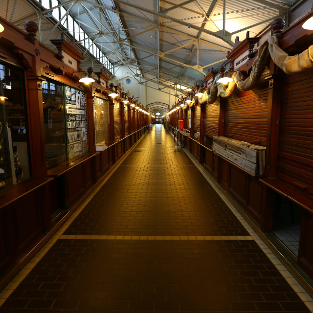 """""""Old fashioned market hall"""" stock image"""