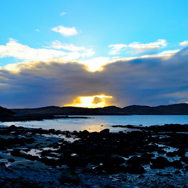 """""""Sunsetting over the Summer Isles"""" stock image"""