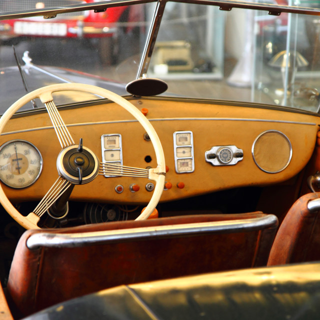 """very old car interior"" stock image"