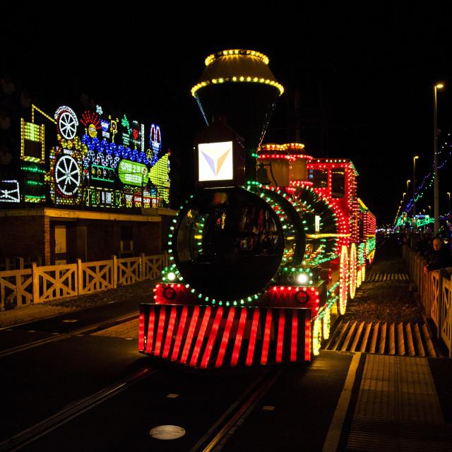 """Blackpool illuminated Tram"" stock image"