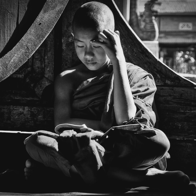 """young Buddhist"" stock image"
