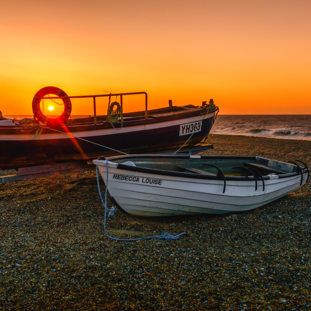 """Cley North Norfolk Beach Sunset"" stock image"