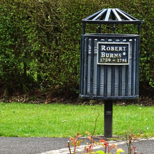 """Bin to Robert Burns 589"" stock image"