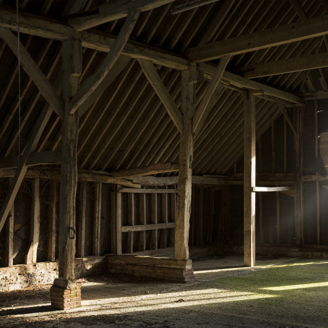 """""""The Medieval Barn"""" stock image"""