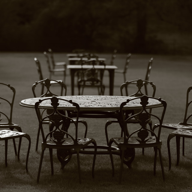 """Table and Chairs."" stock image"