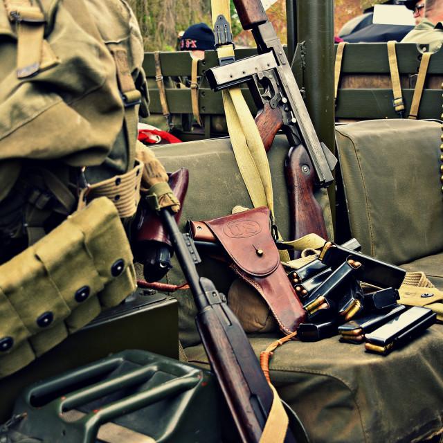 """Guns & ammo"" stock image"