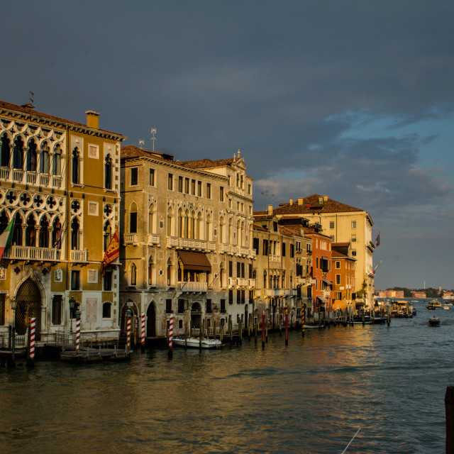 """Grande Canal, Venice, at Sunset"" stock image"