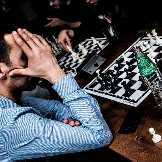 """The chess player"" stock image"