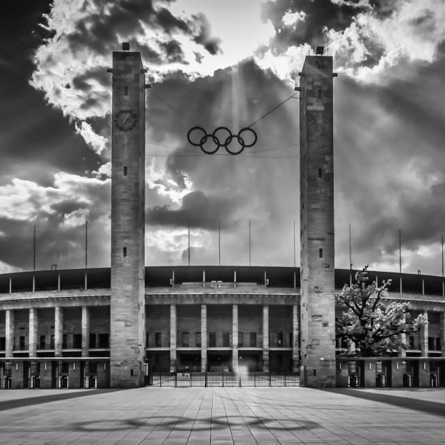 """Olympic Stadium Berlin"" stock image"