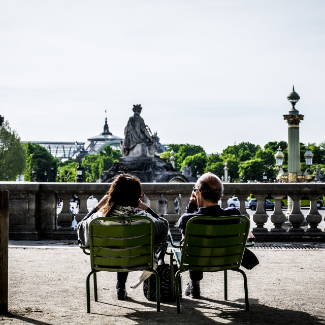"""Enjoying the view in Paris"" stock image"