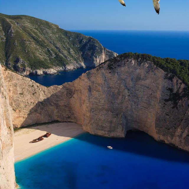 """Shipwreck Navagio beach in Zakynthos"" stock image"