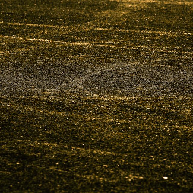 """""""Gold asphalt"""" stock image"""