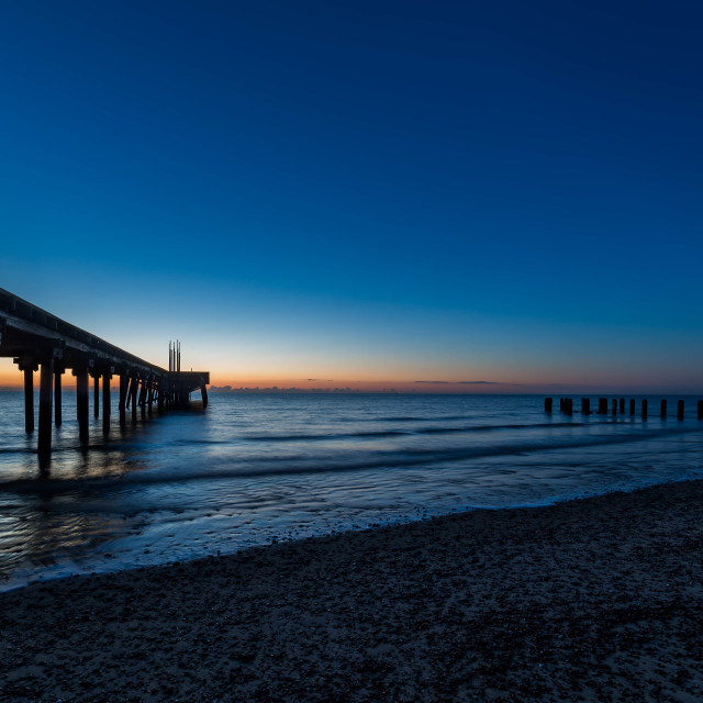 """Blue Hour Pier"" stock image"