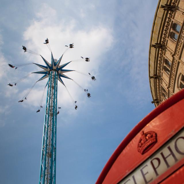 """Crazy Fairground Ride"" stock image"