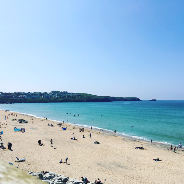 """Fistral Beach, Newquay, Cornwall"" stock image"