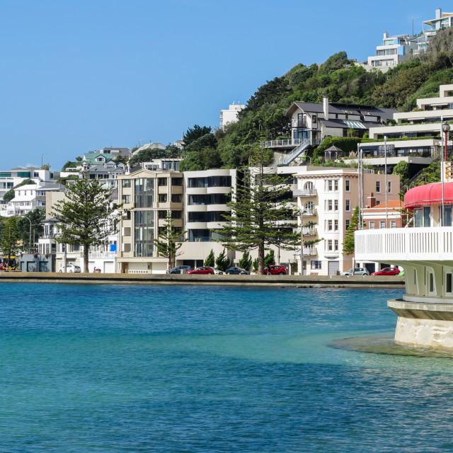 """Oriental Bay, Wellington."" stock image"