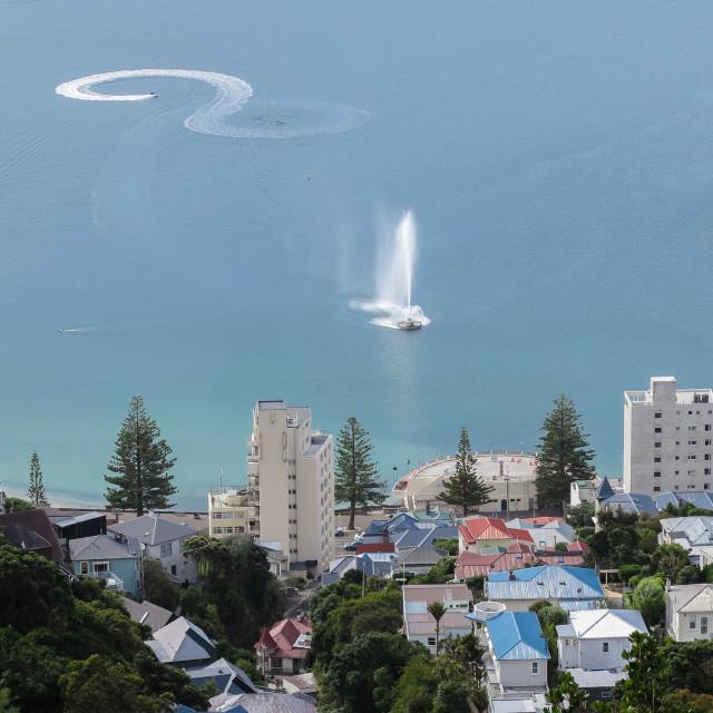 """""""Oriental Bay, Wellington, N.Z."""" stock image"""