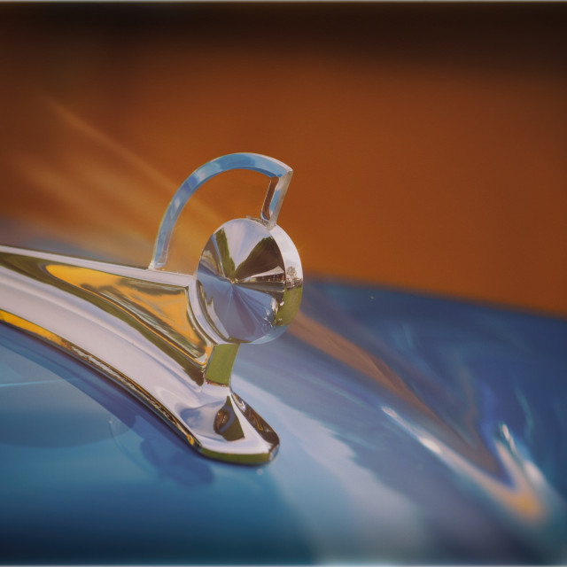 """1949 Ford Hood Ornament"" stock image"