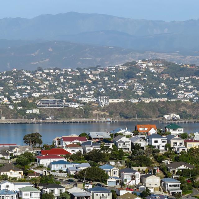 """Evans Bay, Wellington."" stock image"